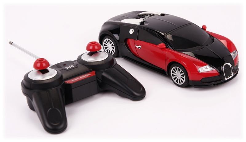 metalowy samoch d r c 4ch 1 24 bugatti veyron. Black Bedroom Furniture Sets. Home Design Ideas
