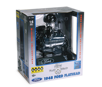 Model plastikowy - Silnik 1/6 Ford Flat Head Engine V-8 - Hawk / Lindberg