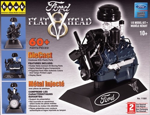 Model plastikowy HAWK - Silnik V8 Ford Flat Head Engine V-8