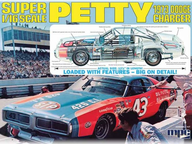 Model Plastikowy Do Sklejania MPC (USA) - Richard Petty NASCAR Charger-Clear