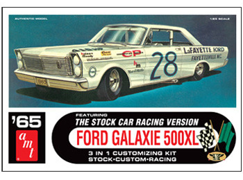 Model Plastikowy Do Sklejania AMT (USA) - 1965 Ford Galaxie Stock Car - Fred Lozenzen