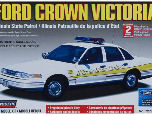 Model Plastikowy Do Sklejania Lindberg (USA) - Radiowóz Ford Crown Victoria (wersja stanowa Illinois)