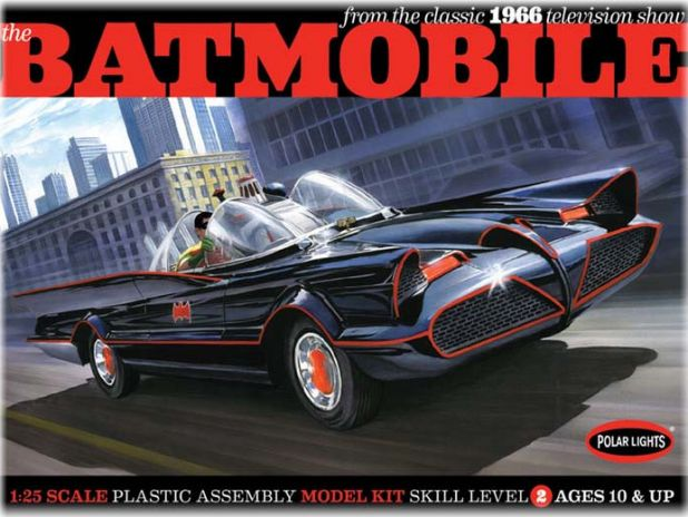 Model Plastikowy Do Sklejania Polar Lights (USA) - Classic 1966 TV Batmobile glue kit