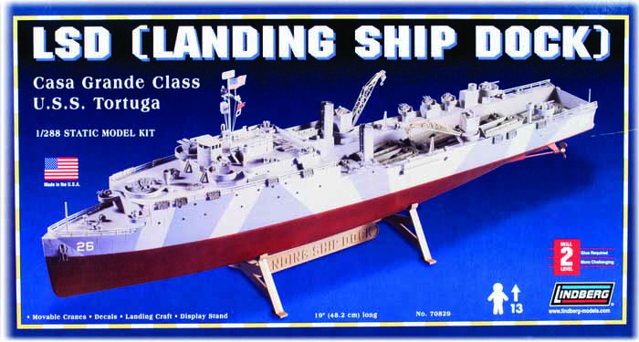 Model Plastikowy Do Sklejania Lindberg (USA) - Landing Ship Dock