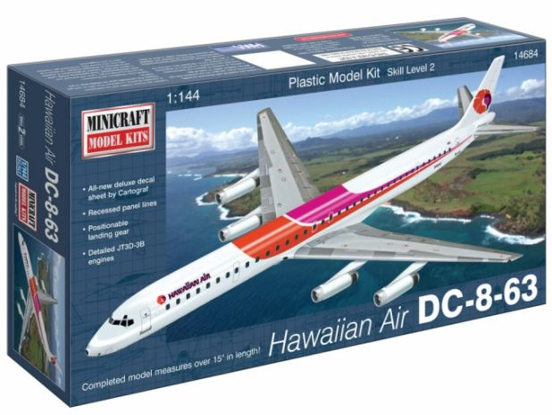 Model plastikowy - Samolot DC863 Hawaiian Air - Minicraft