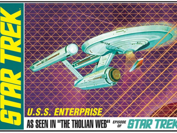 Model Plastikowy Do Sklejania AMT (USA) - Star Trek TOS U.S.S. Enterprise Tholian Web Edition