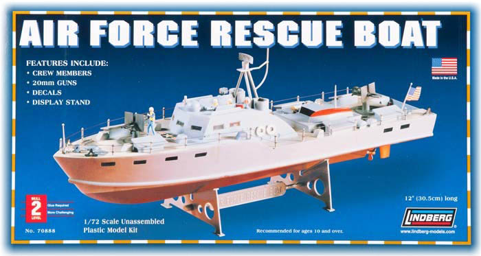 Model plastikowy Lindberg - Air Force Rescue Boat