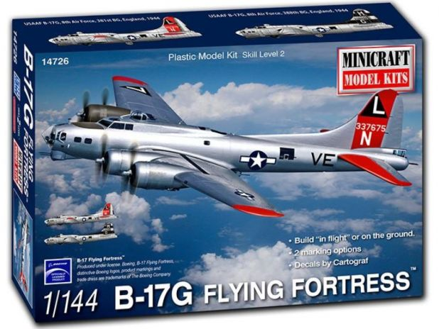 Model plastikowy - Samolot B-17G Flying Fortress 8th AF USAAF 1:144 - Minicraft