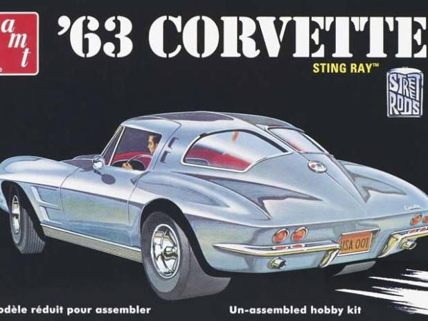 Model plastikowy AMT - 1963 Chevy Corvette