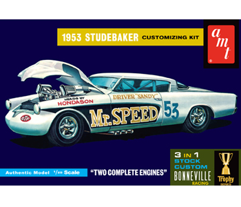 Model plastikowy - Samochód 1953 Studebaker Starliner Mr. Speed - AMT