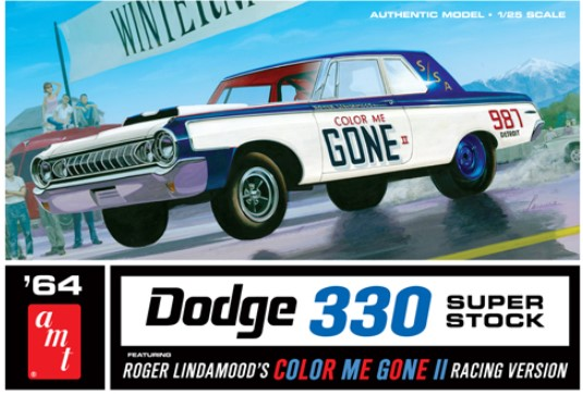 Model plastikowy - Samochód Color Me Gone 1964 Dodge 330 Superstock 1:25 - AMT