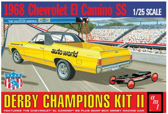 Model plastikowy - 1968 El Camino (with Bonus Soap Box Derby Car) 1:25 - AMT