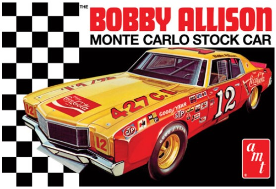 Model plastikowy - Samochód Coca Cola Bobby Allison 1972 Chevy Monte Carlo Stock Car 1:25 - AMT