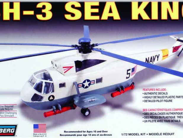 Model Plastikowy Do Sklejania Lindberg (USA) - Śmigłowiec Helikopter SH-3 Sea King